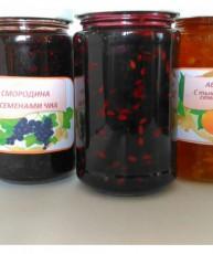 Джем - Красный виноград с семенами льна.
